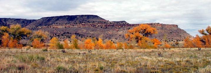 Black Mesa in the fall